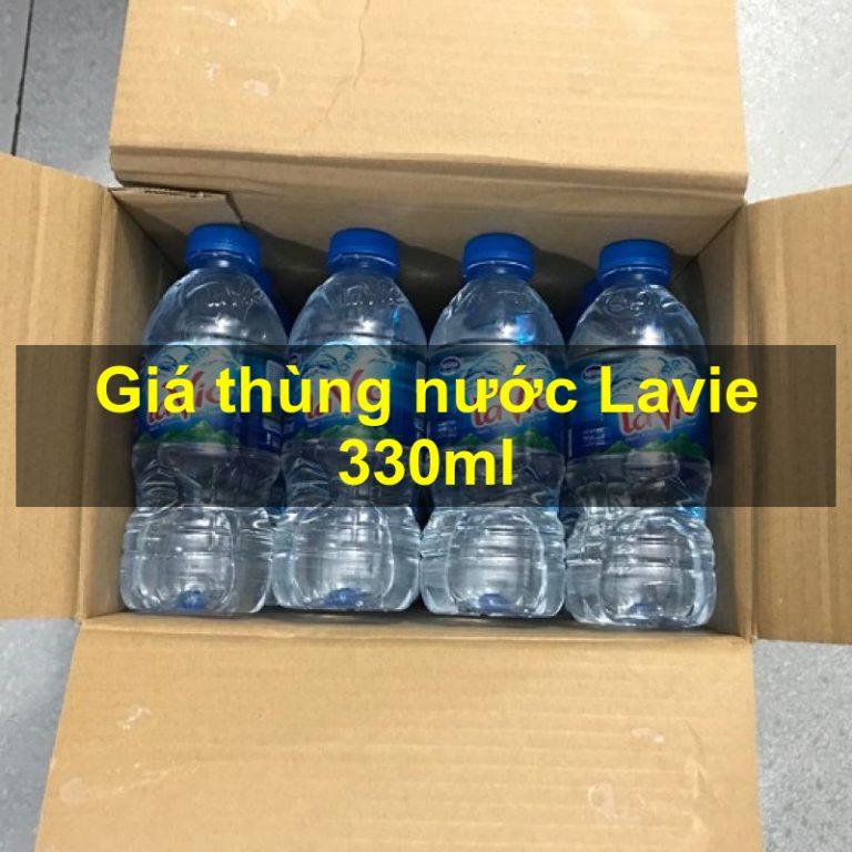 Giá thùng nước Lavie 330ml