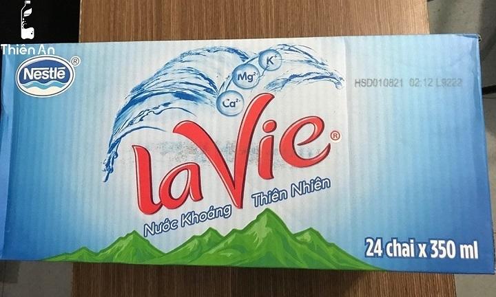 Một thùng Lavie 350ml bao nhiêu chai